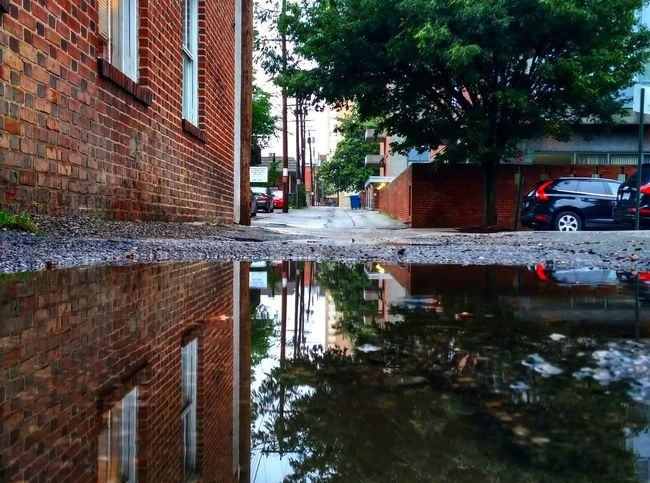 Reflections In The Water Puddle Puddleography Puddle Reflections Water Reflections Mirror Picture Androidography Taking Photos Rain Rainy Days Gloomy Day Richmond, VA