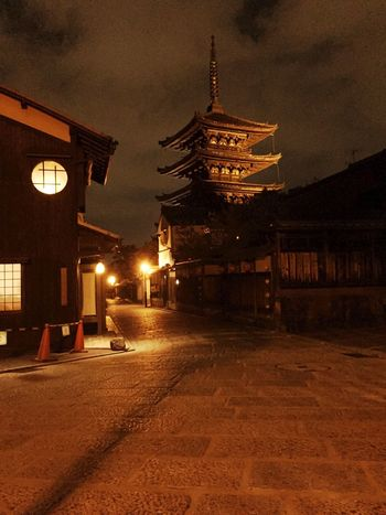 Kyoto!!! Kyoto Nightphotography Five Storied Pagoda Temple Temple - Building 八坂の塔