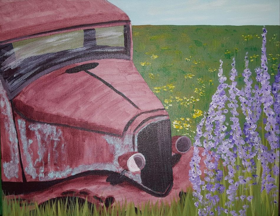 Field Outdoors Nature Wild Flowers Oregon Field Acrylic Painting Flower Paintings Acrylic Original Artwork