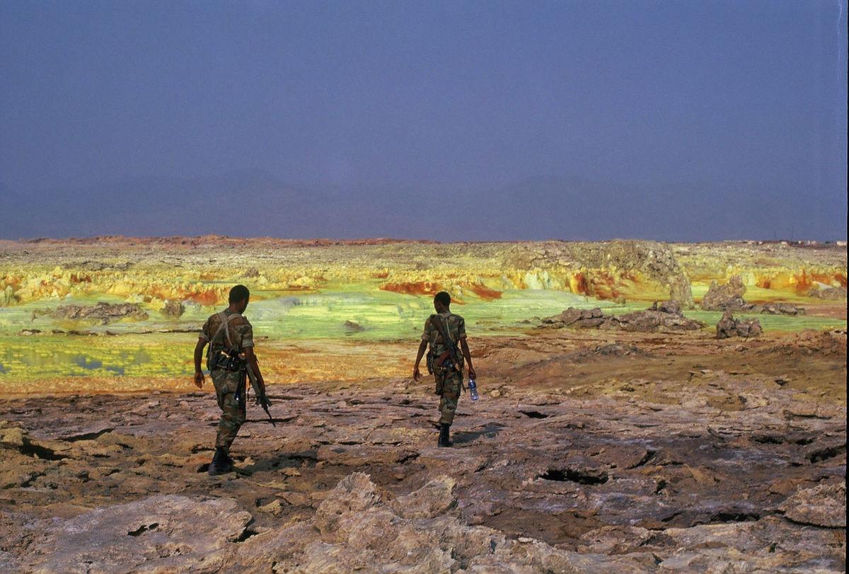 Beautiful Landscape Danakil  Ethiopia Exploring Landscape Nature Strange Landscape Sulphur