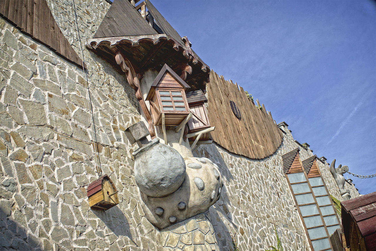 Amusementpark Architecture Balcony Building Exterior Built Structure Fortified Wall HDR House No People Old Town Outdoors Phantasialand Pretty Residential Structure Sky Stone Material Stone Wall