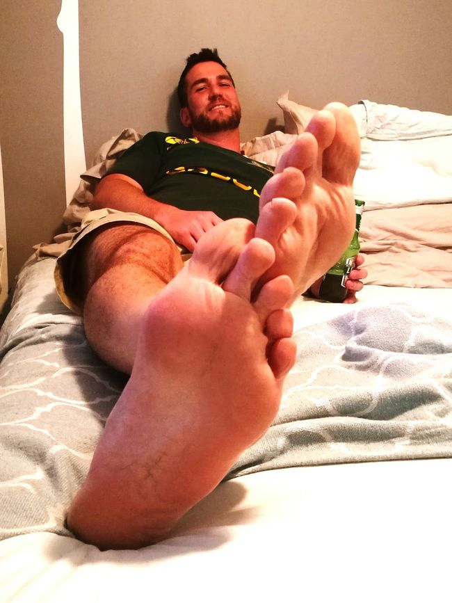 Dramatic Angles Big Friendly Giant Big Feet Relaxation Indoors  Focus On Foreground