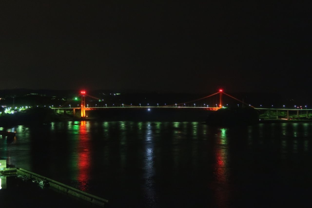 Night Bridge - Man Made Structure 平戸大橋 平戸 たびら温泉 夜景 橋 Built Structure Illuminated Water Reflection Beauty In Nature Nature Architecture Suspension Bridge Building Exterior Sea Night View Cloud - Sky Connection Travel Destinations Transportation City Sky Outdoors
