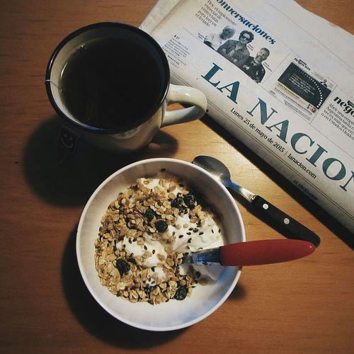 Tea Time Newspaper Granola Relaxing