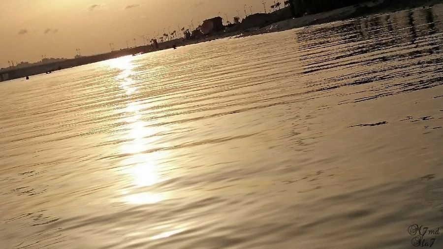 Backgrounds Sunset Water Sea