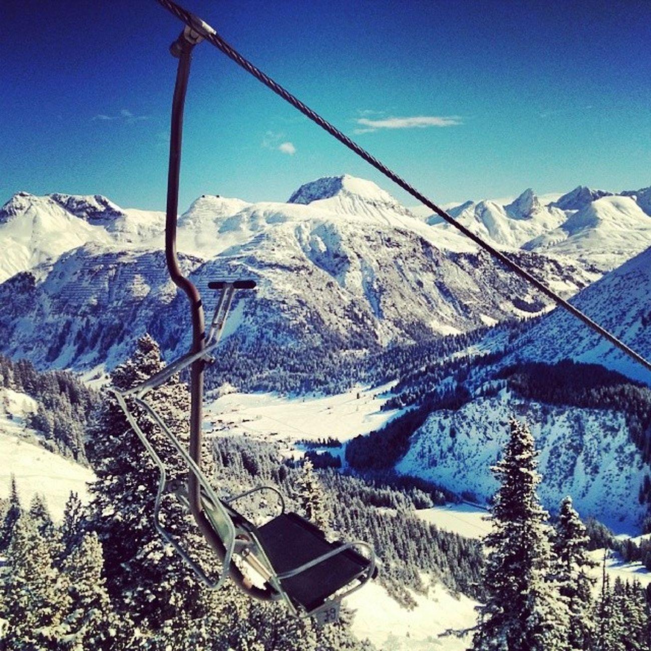 Skiing Zug Arlberg Lech oberlech austria sun