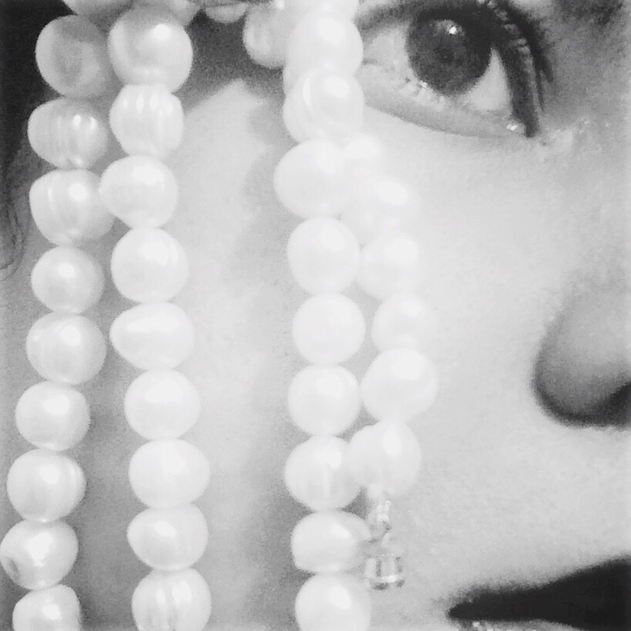 All that glitters Blackandwhite Shiny Pearls Self Portrait Past