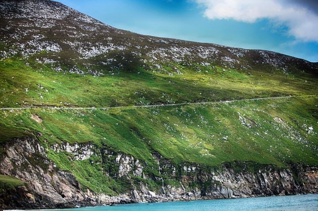Achill Beauty In Nature Calm Cloud Countryside County Mayo Day Green Idyllic Ireland Majestic Mayo Mountain Mountain Range Nature Outdoors Remote Scenics Sky Summer Tranquil Scene Tranquility Vacations Water Wild Atlantic Way