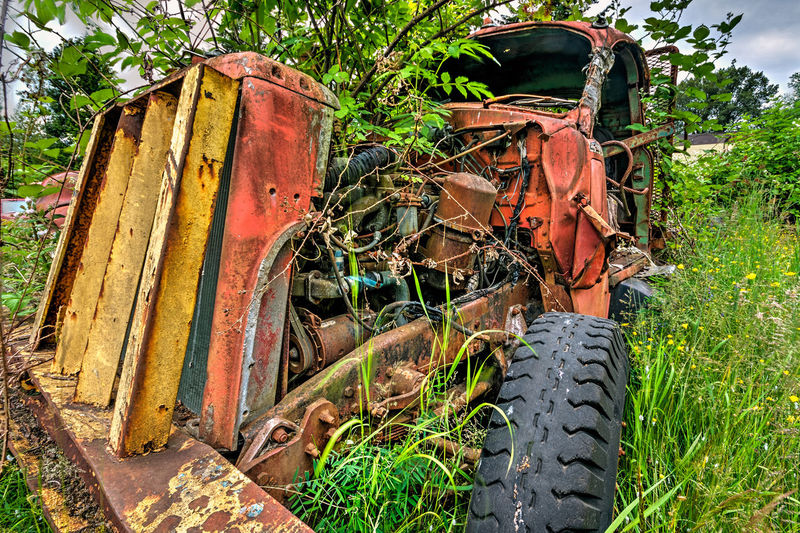 Abandoned Bad Condition Bulldozer Close-up Damaged Day Deterioration Earth Mover Iron - Metal Land Vehicle Mode Of Transport Obsolete Old Outdoors Run-down Rusty The Past Truck Weathered