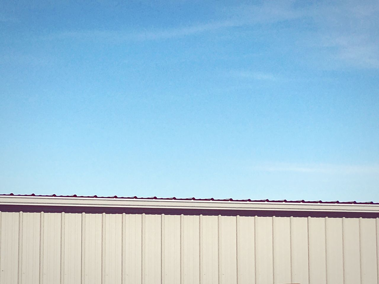 copy space, day, outdoors, clear sky, no people, blue, architecture, building exterior, sky, nature, corrugated iron