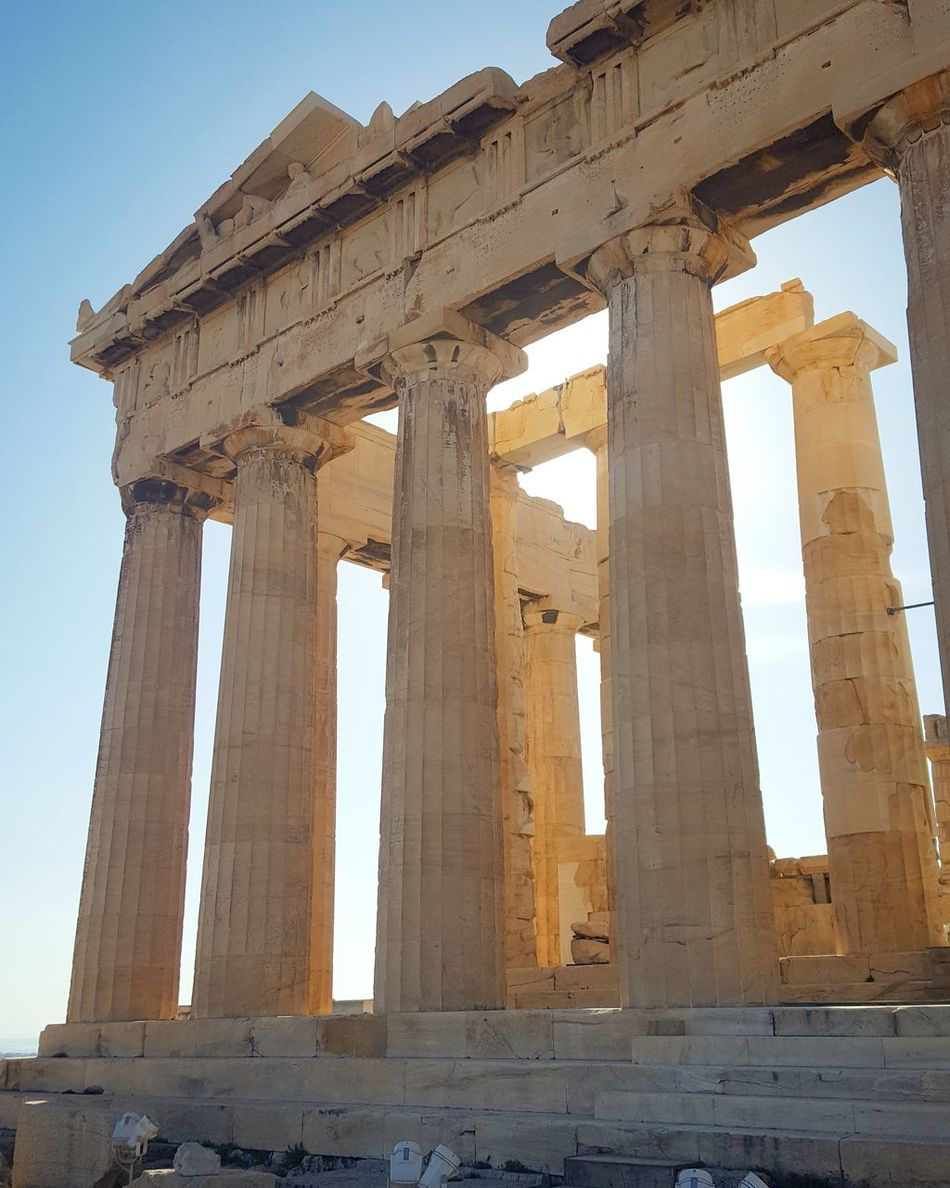 Athens, Greece Athens City Acropolis, Athens Acropolis Europe Acropolis Of Athens Acropolis Walls Historical Monuments History Through The Lens  Travel Destinations Clear Sky Sky Sun Day Architecture History Parthenon Acropolis Greece