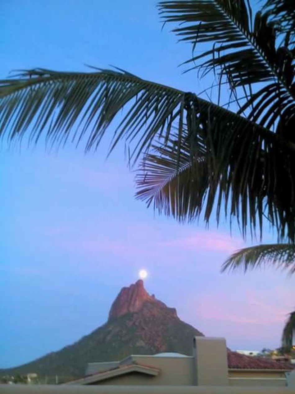 Tetakawi Hill Tetakawi And The Moon San Carlos Beach Sonora Mexico On The Top On The Top Of The Hill Over The Hill