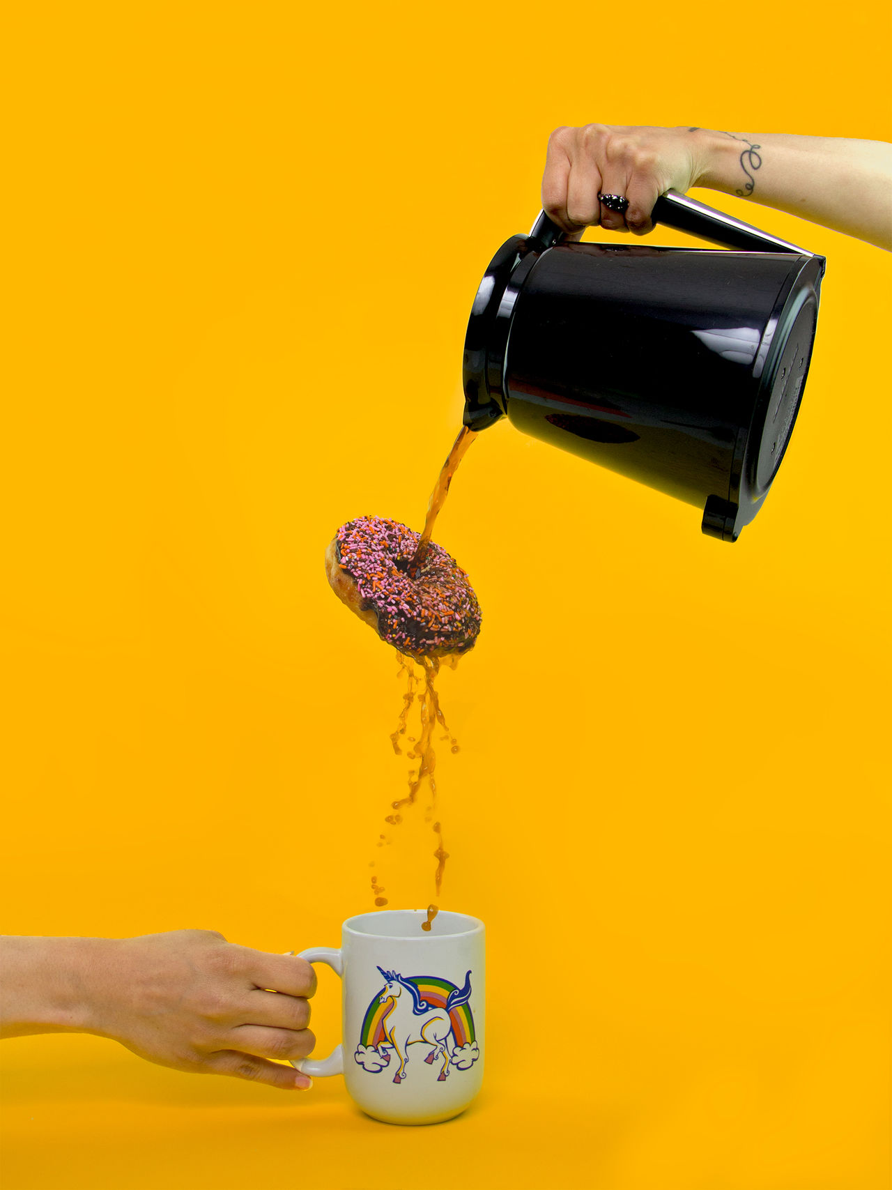 Beautiful stock photos of einhorn, Coffee - Drink, Coffee Cup, Coffee Pot, Composite Image