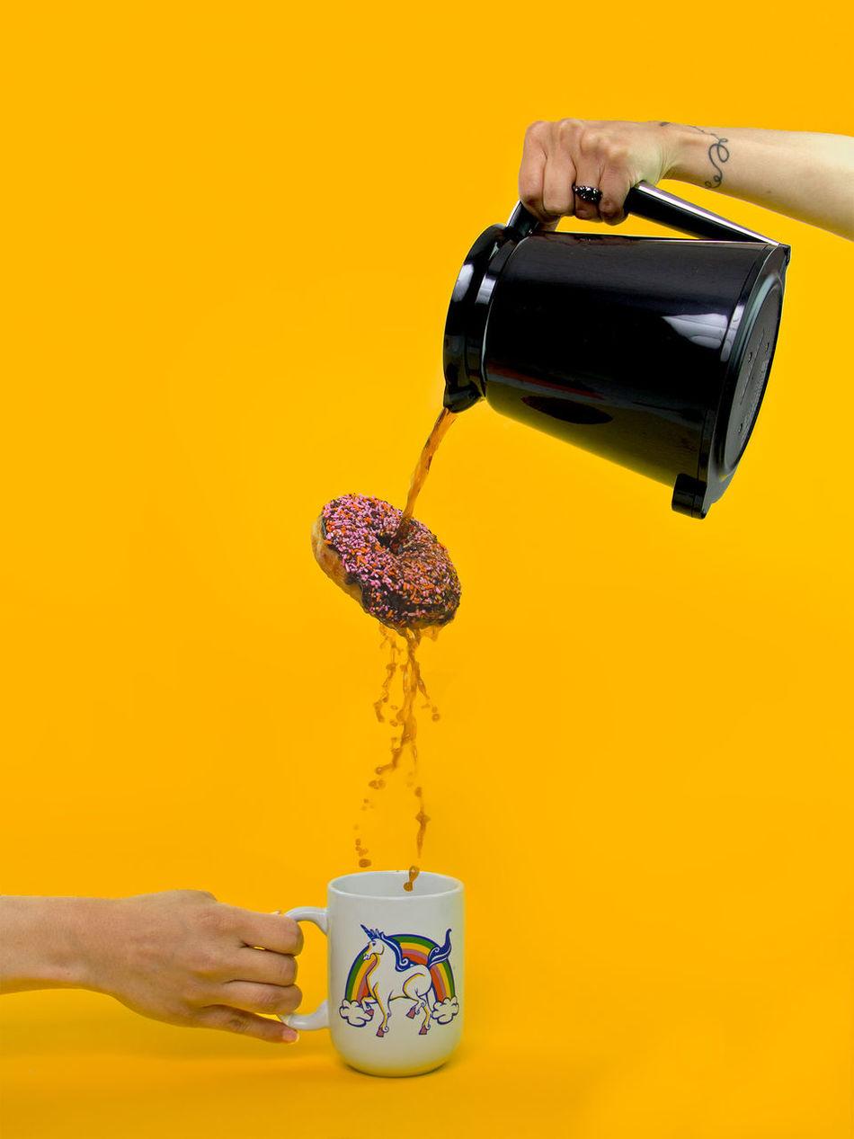 Beautiful stock photos of einhorn, Coffee - Drink, Coffee Cup, Coffee Pot, Composite Image