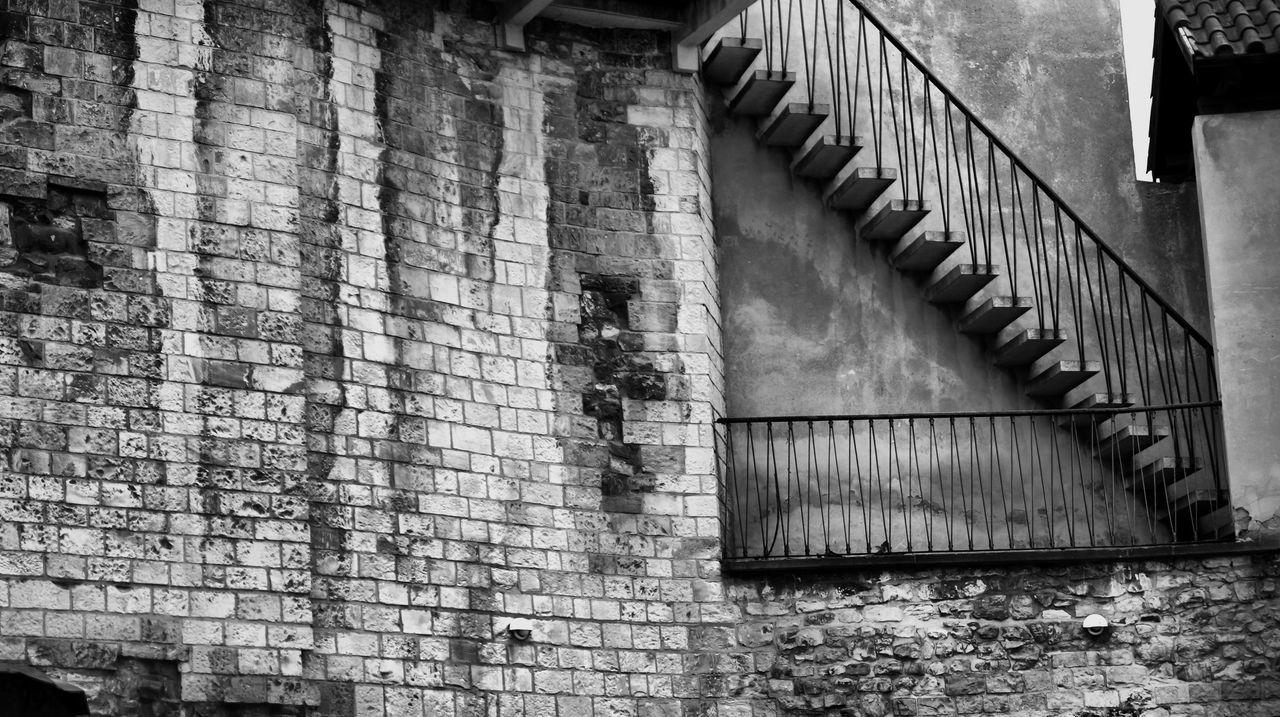 Steps On Abandoned Building