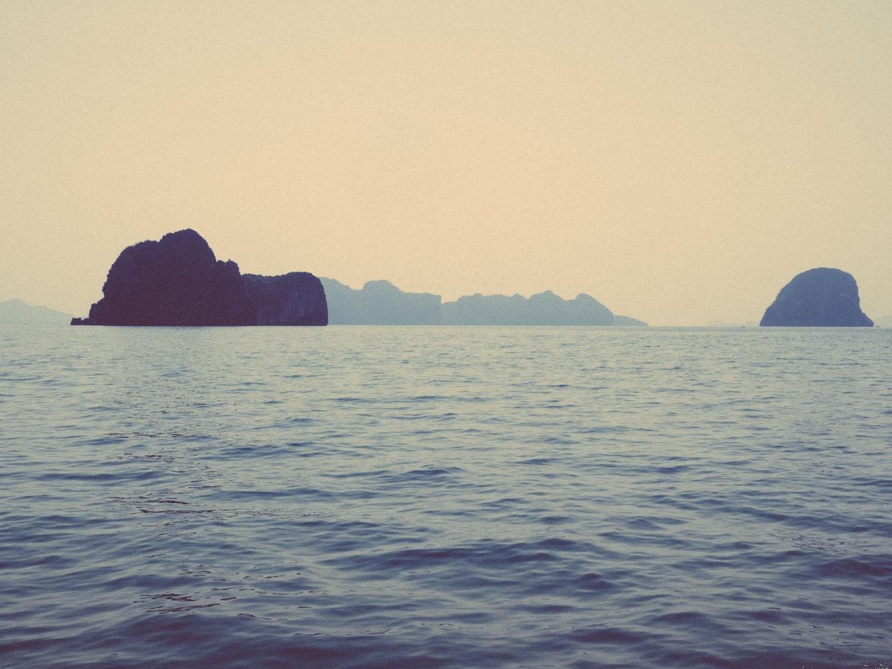 somewhere in the Andaman sea Beauty In Nature Nature No People Rock - Object Scenics Sea Sky Thailand Tranquil Scene Tranquility Water