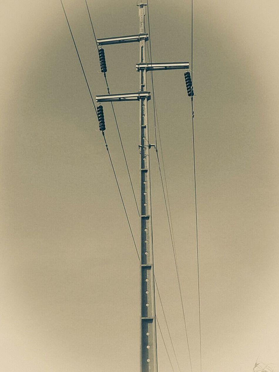 Electricity  Cable Symmetry Electricity Pylon Outdoors Sky