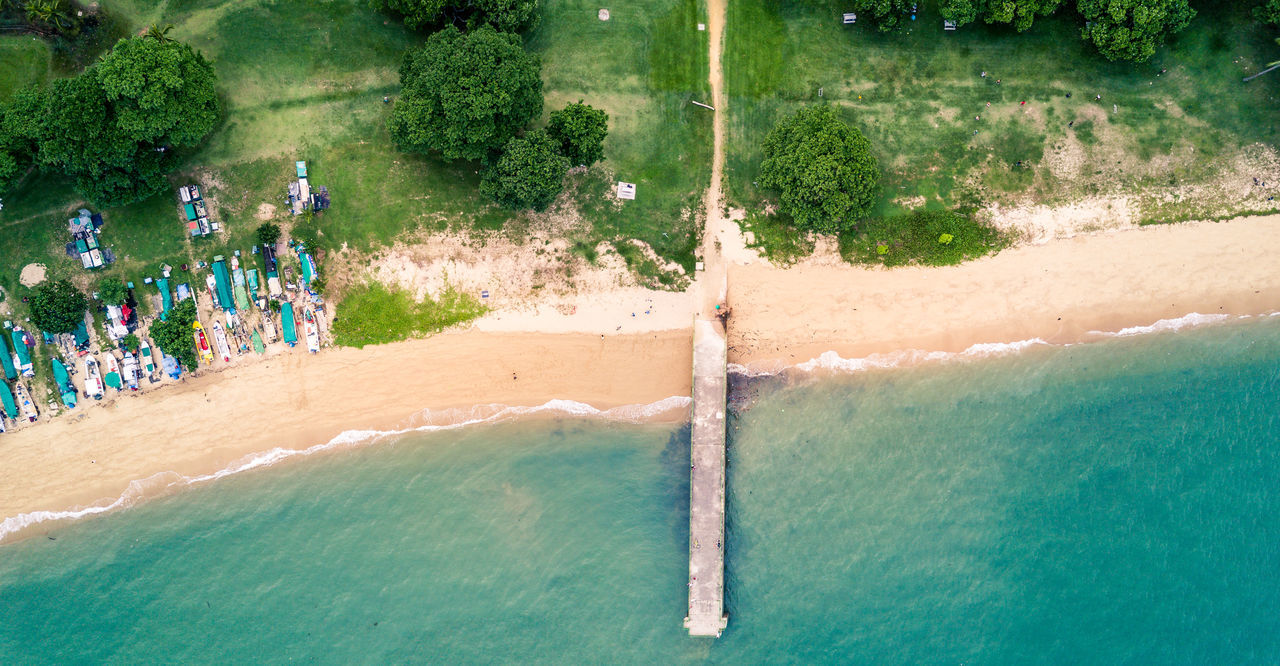 ASIA Beach Beauty In Nature Coast Coastline Day Drone  Dronephotography High Angle View Large Group Of People Leisure Activity Lifestyles Men Motion Nature Outdoors People Real People Sea Singapore Tree Water