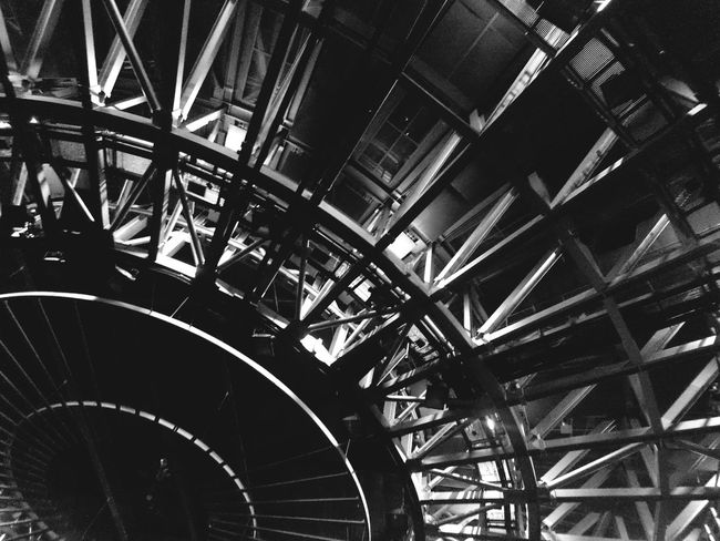 Greetings from the Death Star. Lookingup Ceiling Architecture Blackandwhite Steel Grid Lines