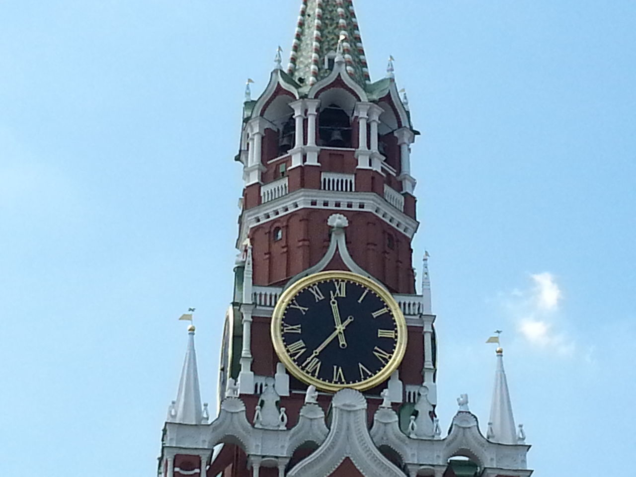 Low Angle View Of Clock Tower Against Clear Sky