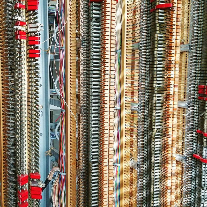 Telecom Wires Cabling Industrial Pattern