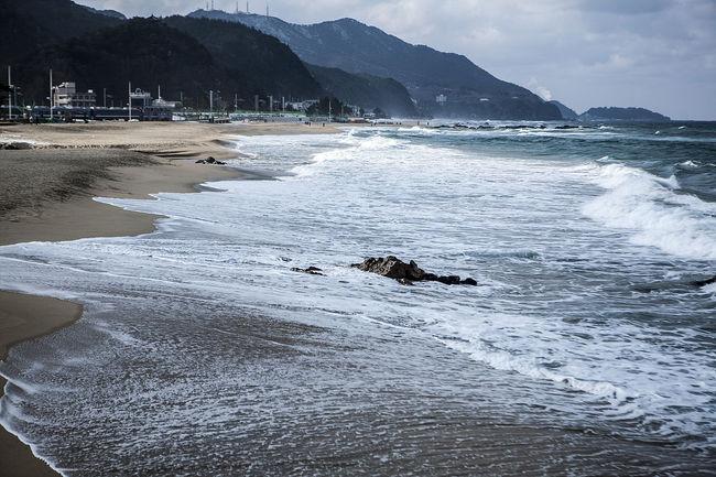 Jeongdongjin Winter Sea Gangreung South Korea Korea Beach