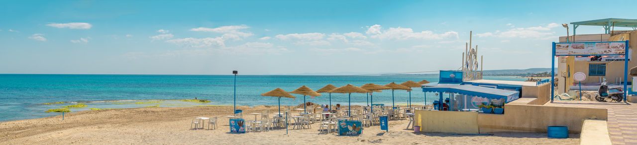 Nabeul Plage Summer Beach Blue Cloud - Sky Day Horizon Over Water Nabeul Nabeul Tunisia Outdoors Postcard Sand Sea Sky Travel Destinations Vacations Water