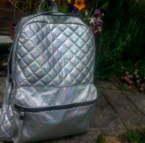 New holographic bag from new look :D Holographic Bag