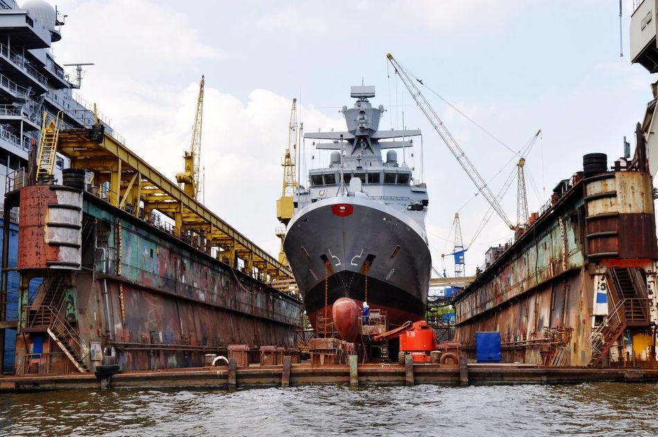 Beautiful stock photos of hamburg, Commercial Dock, Crane - Construction Machinery, Day, Development