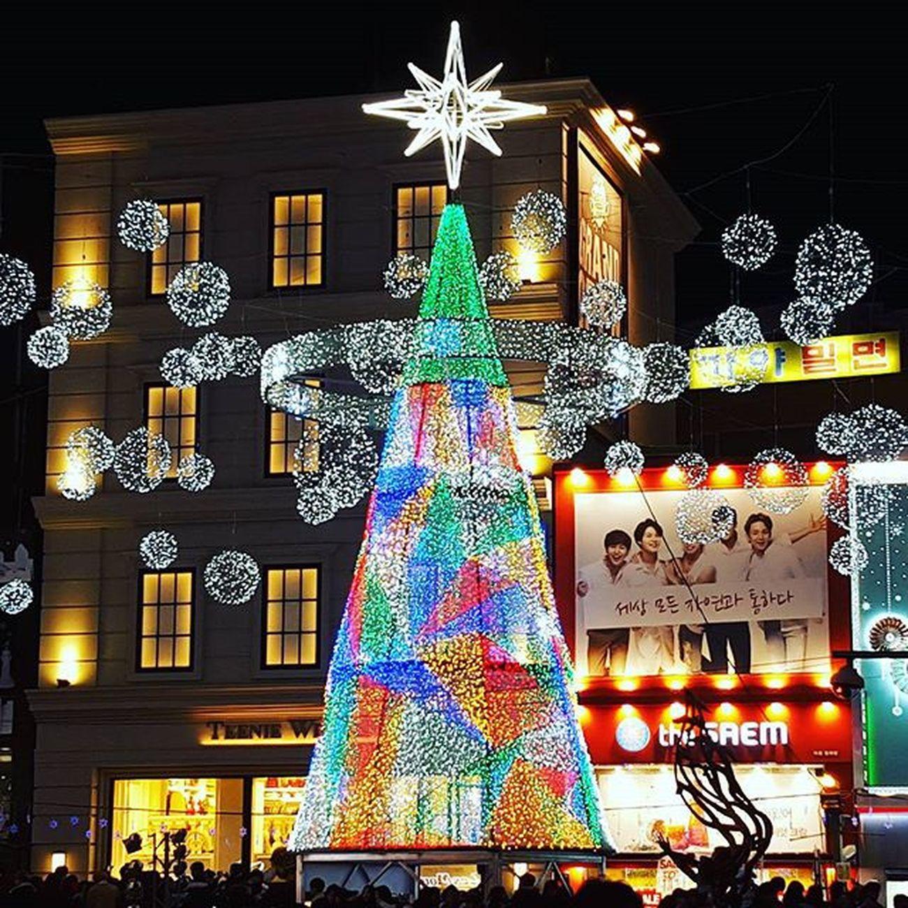 크리스마스트리 남포동 부산야경 부산 Busan 바다 일상 데일리 사진 여행 일상공유 맞팔 Sotong 미러리스카메라 Follow Followme Photo Travel Daily Southkorea