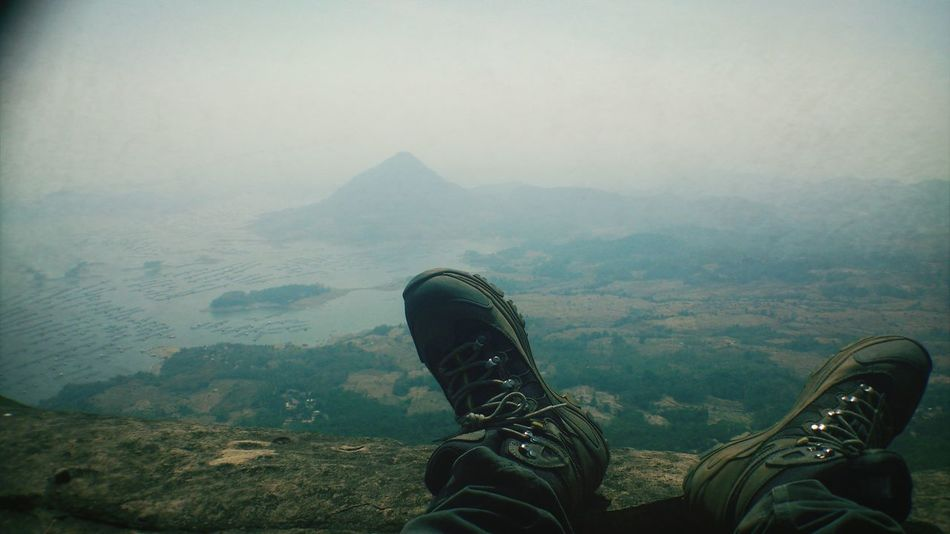 A view from Mt Lembu, Purwakarta, with Waduk Jatiluhur as background