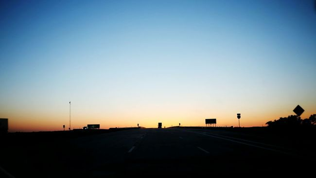 Taking Photos On The Way Home Nebraska Check This Out On The Road At Dusk Interstate Traveling Skyline