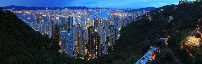 Hong Kong by night, from the Victoria Peak Hong Kong ASIA China Dusk Nightphotography Victoria Harbour Victoria Peak, Hongkong