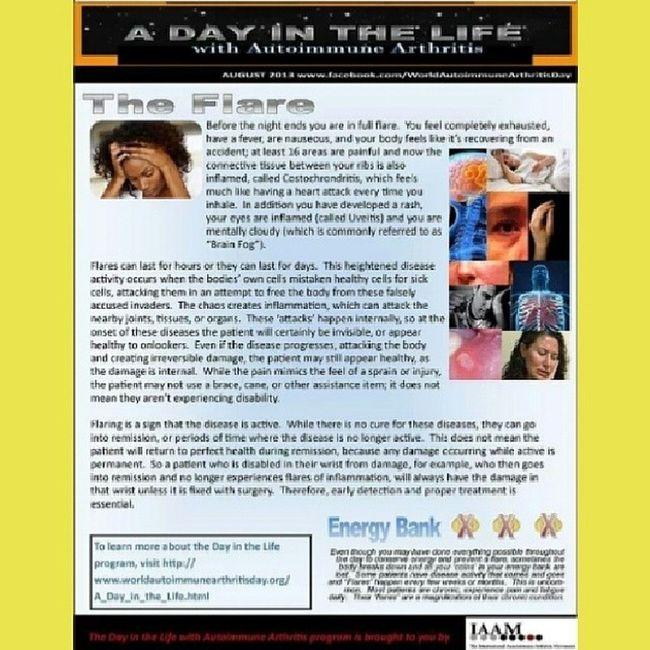 Autoimmune Arthritis Awareness UnitedAdvocacy ADayInTheLife TheFlare
