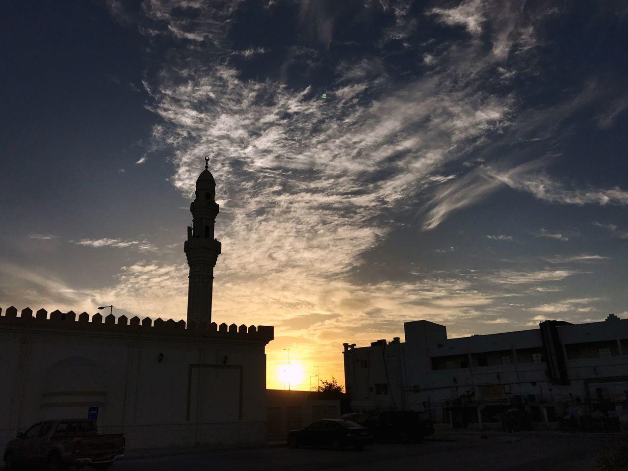 Neighborhood Qatar Sunrise Clouds And Sky Spring Peace Middle East