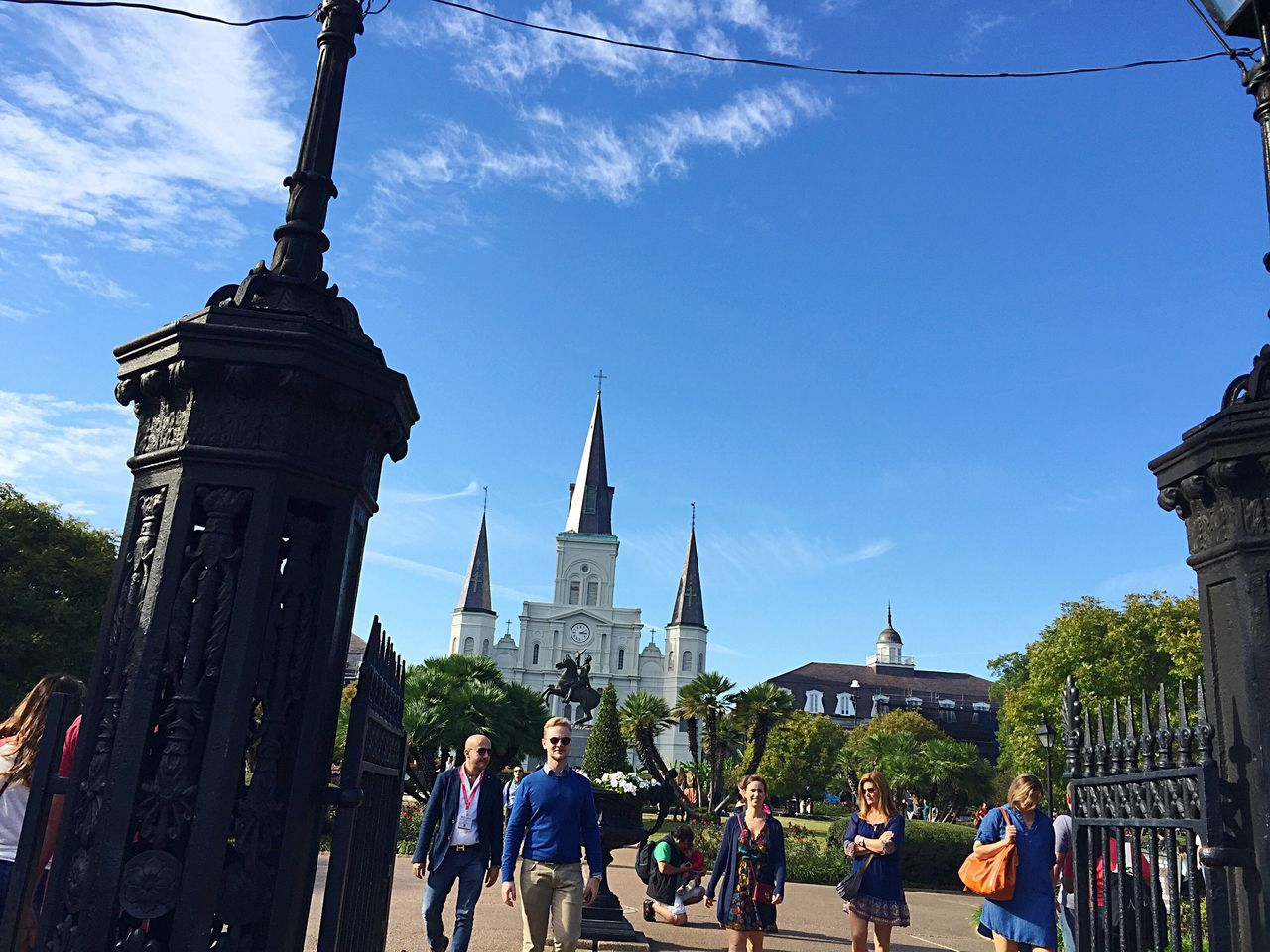 Real People Building Exterior Architecture Men Built Structure Women Travel Destinations Large Group Of People Sky Outdoors Religion Lifestyles Day City Spirituality Place Of Worship Statue City Gate People Adult New Orleans Life New Orleans EyeEm New Orleans, LA Jackson Square St. Louis Cathedral