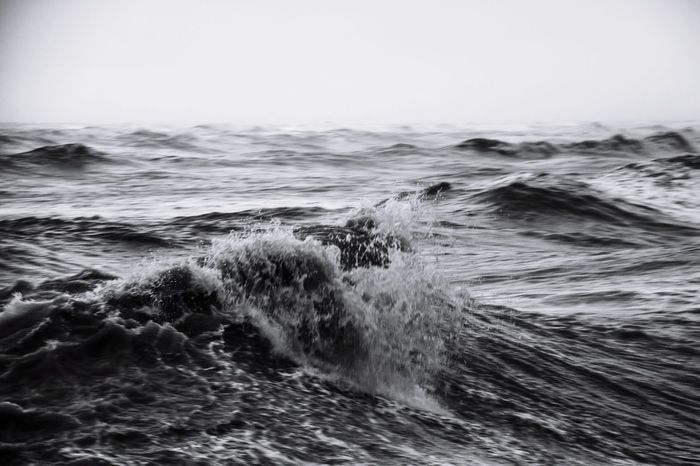 Tempest Sea Wave Nature Motion Power In Nature Italy Storm Outdoors Blackandwhite Winter