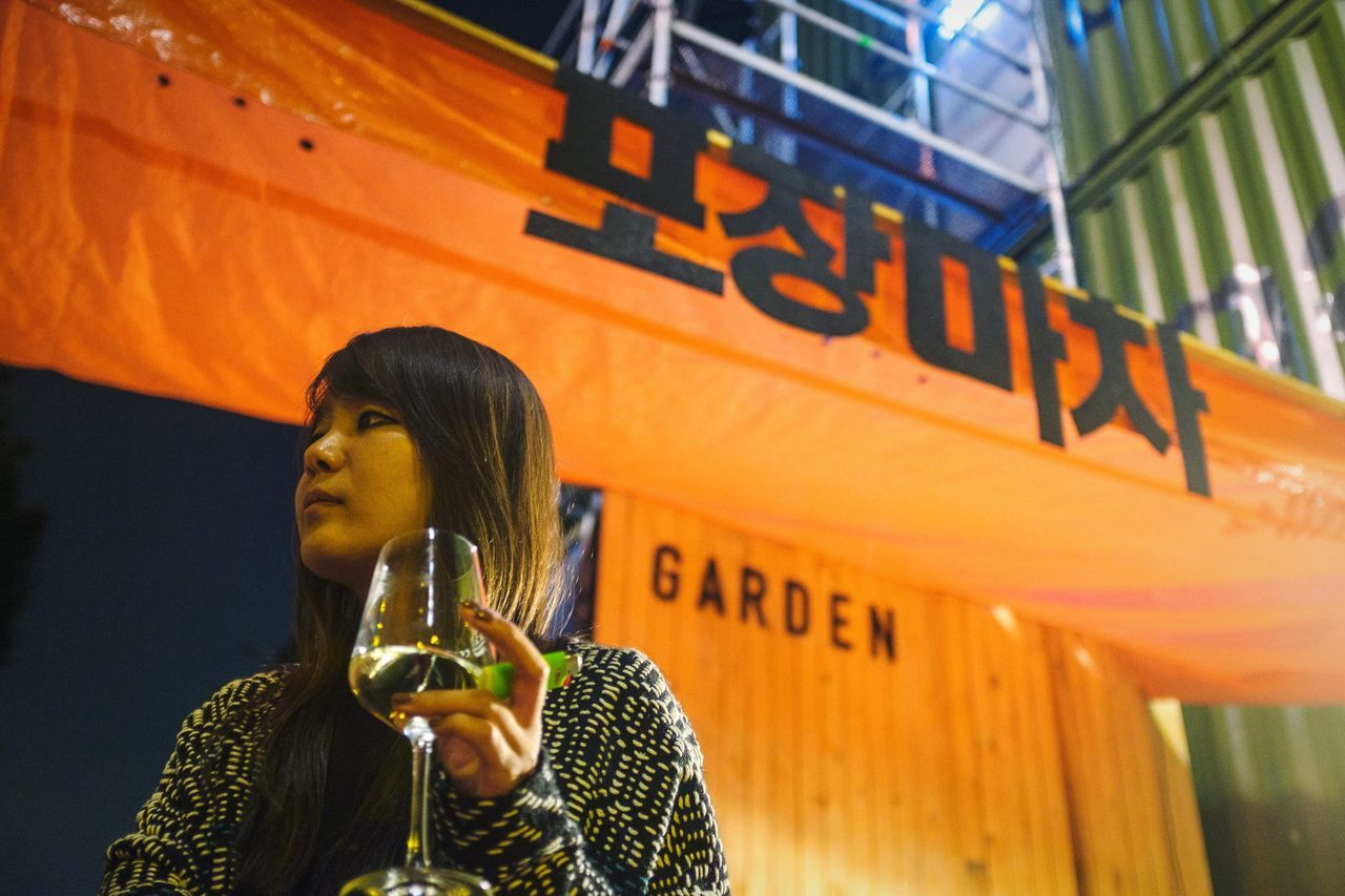Pojangmacha girl Open Edit Girl Asian Girl Beautiful Girl Korean Food Pojangmacha Nightphotography Drinking Wine Berlin EyeEm Best Edits