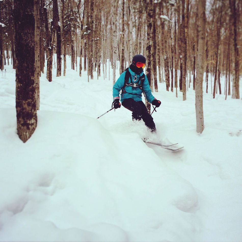 Ski is life Skiing Backcountry Love Wood Snow