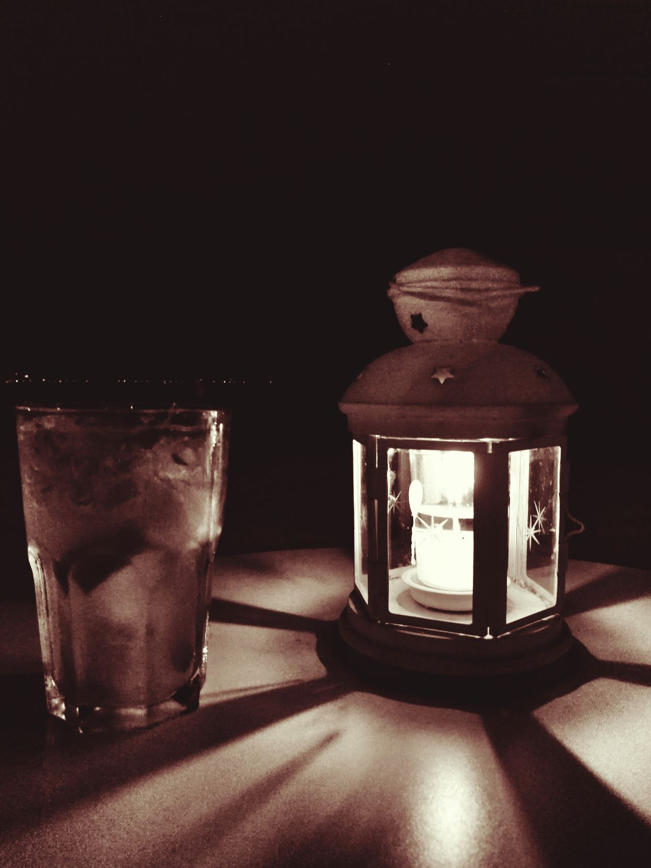 Good evening 🍷 Table Drinking Glass Food And Drink No People Drink Day Glass Indoors  Close-up Lantern Lantern Light Candle Candle Light Candle Night EyeEmNewHere EyeEm Selects