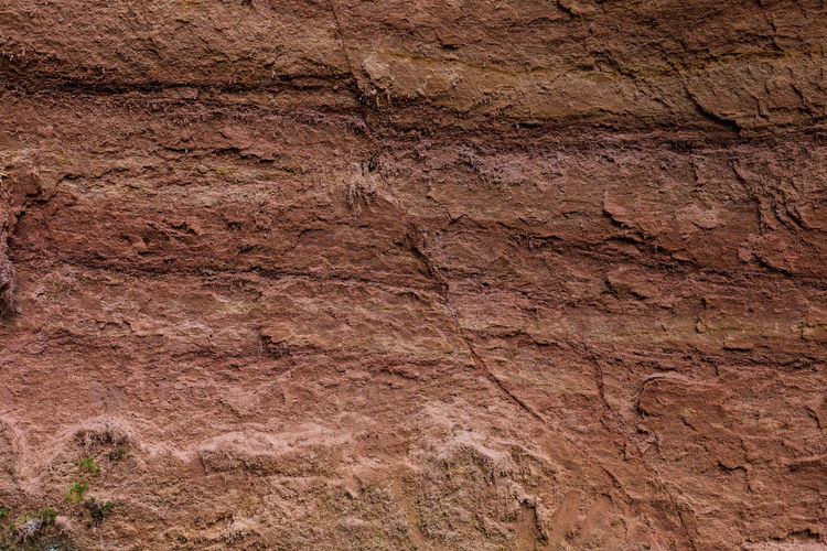 Red cliff wall near Rūcamavots in Cesis Rock Wall Backgrounds Cliff Geology History Nature Nature Preserve Red Cliffs Textured