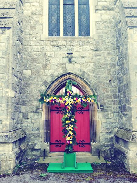 Church Phtography Cross Flowers