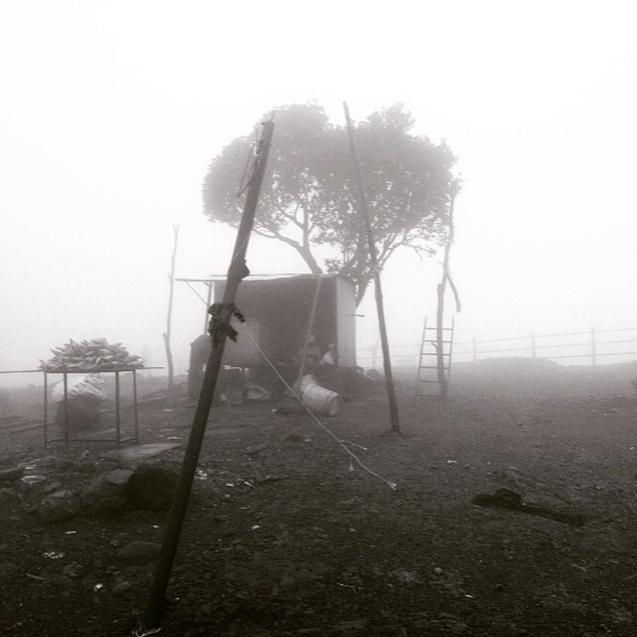Lonavala Back Hostel Tigers Point In Clouds Beautiful Weather 0 Visibility <3
