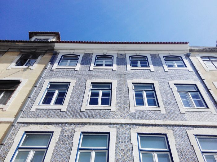 Window Architecture Building Exterior Low Angle View Blue Sky No People Day Built Structure Outdoors