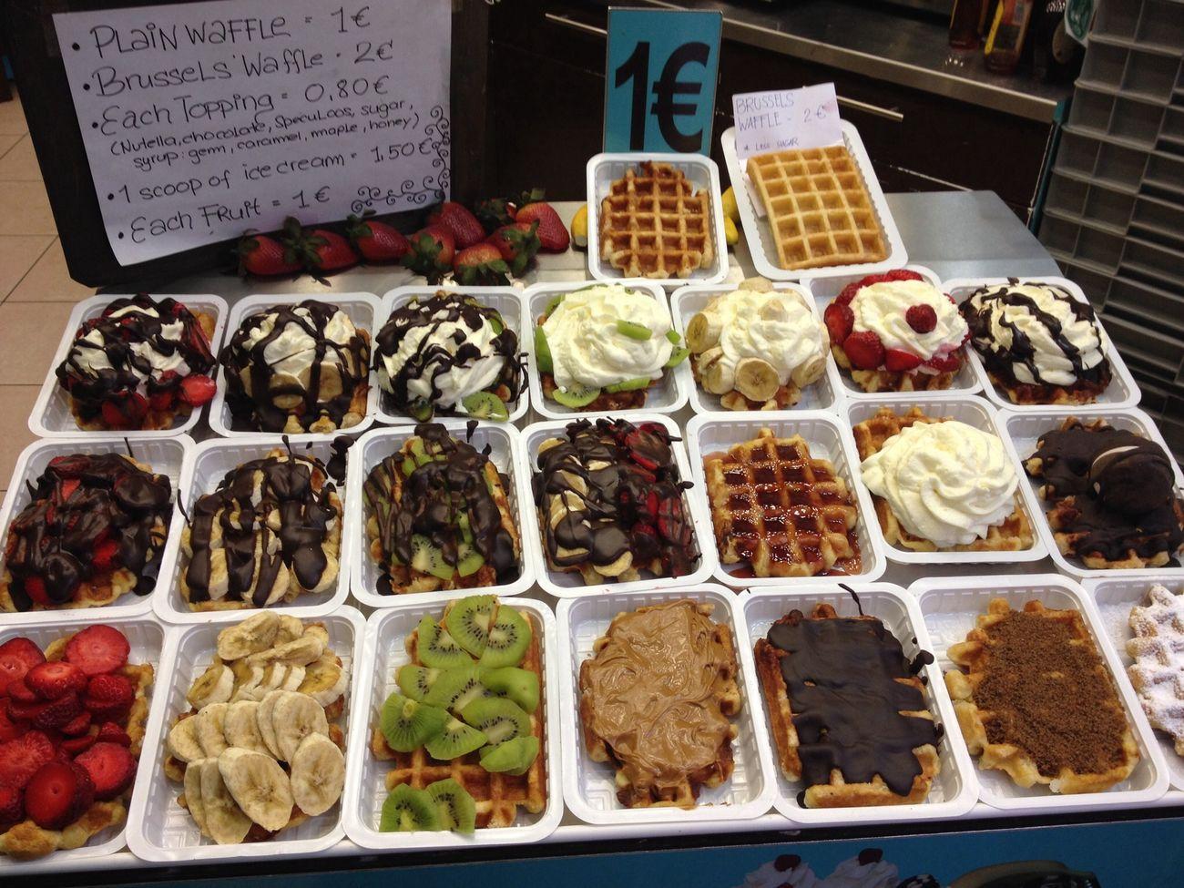 Bruxelles q tal unos wafles!! Postre Desert