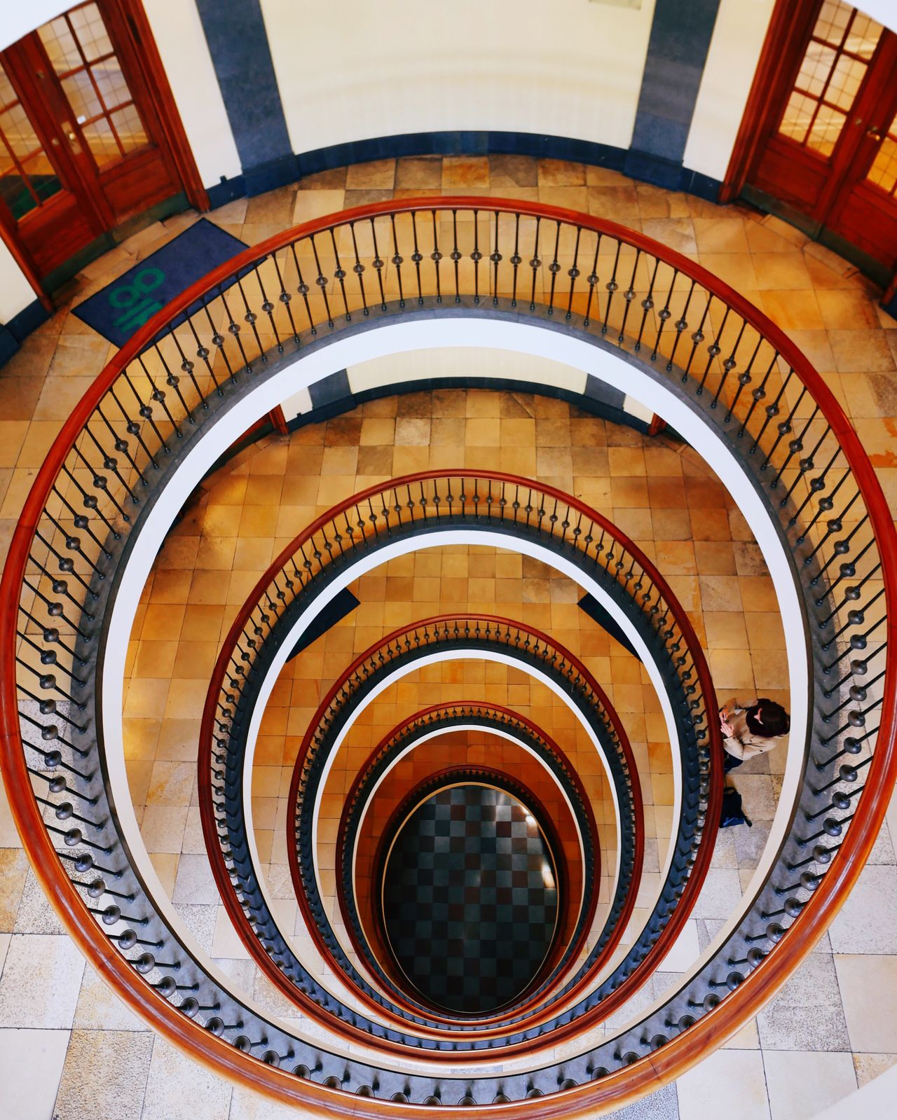 look down Staircase High Angle View Architecture Copenhagen Copenhagen, Denmark
