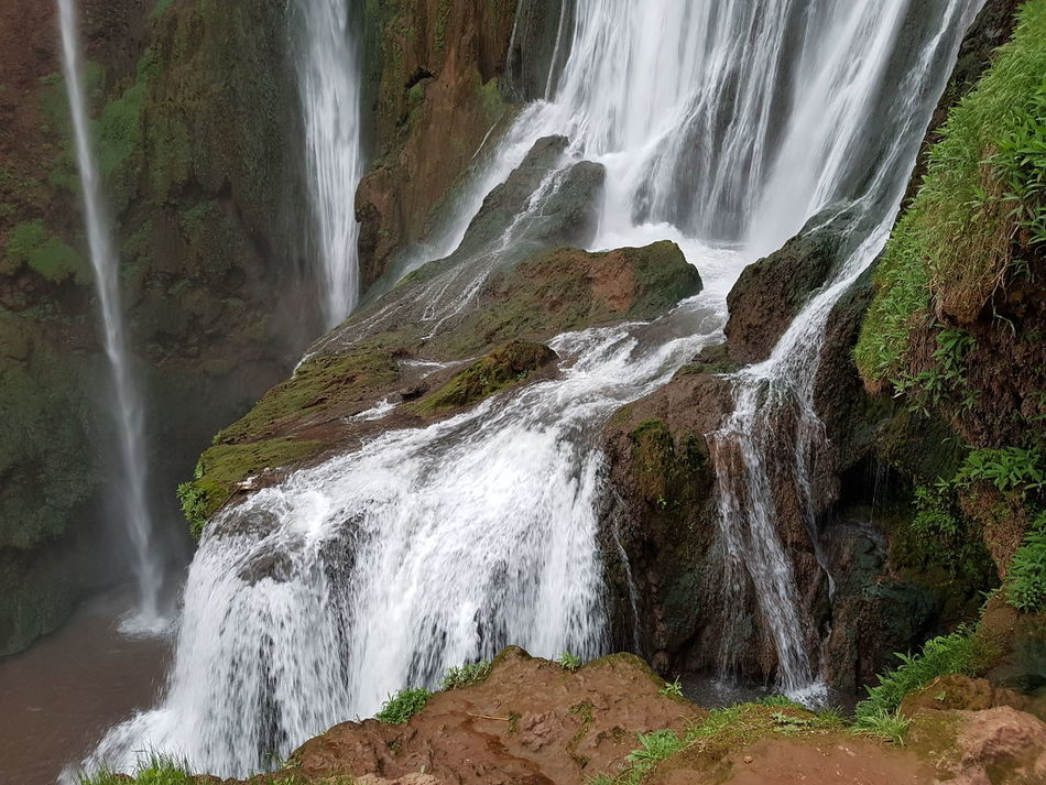 Waterfall Water Nature Beauty In Nature Motion No People Scenics Power In Nature Mountain Close-up Outdoors Day Morocco Ouzoud Falls