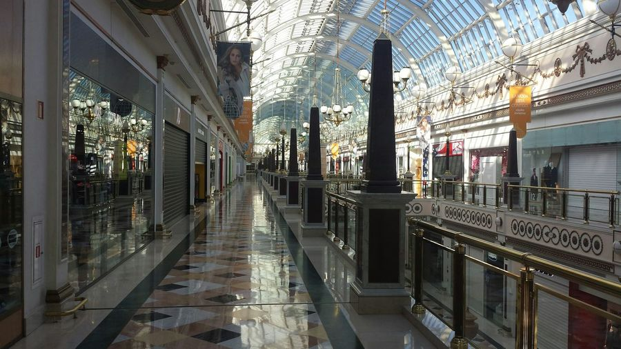 Architecture Marble Shopping Mall City Visiting Tranquility San Sebastian De Los Reyes, Madrid, Spain