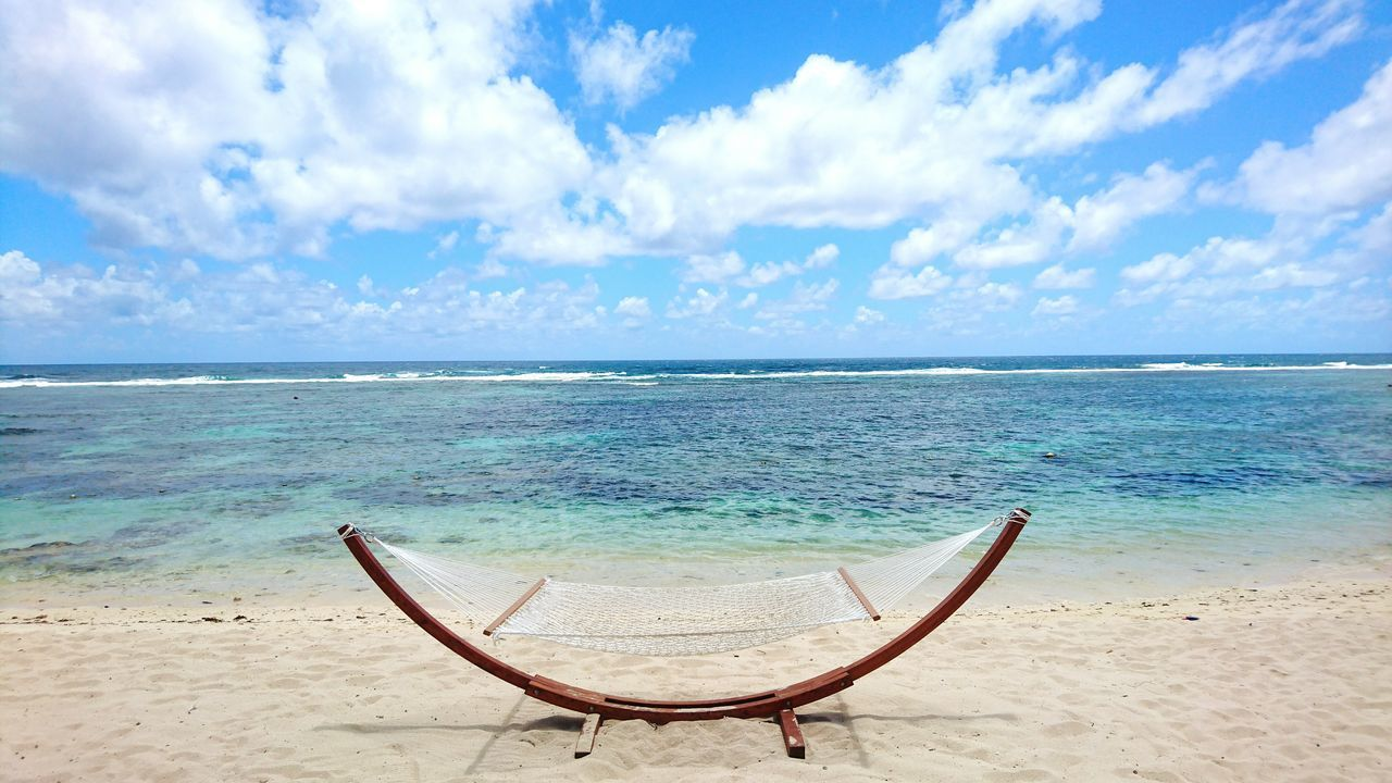 Sea Beach Horizon Over Water Sand Water Outdoors Cloud - Sky Vacations Tranquility Tranquil Scene Day Hamak