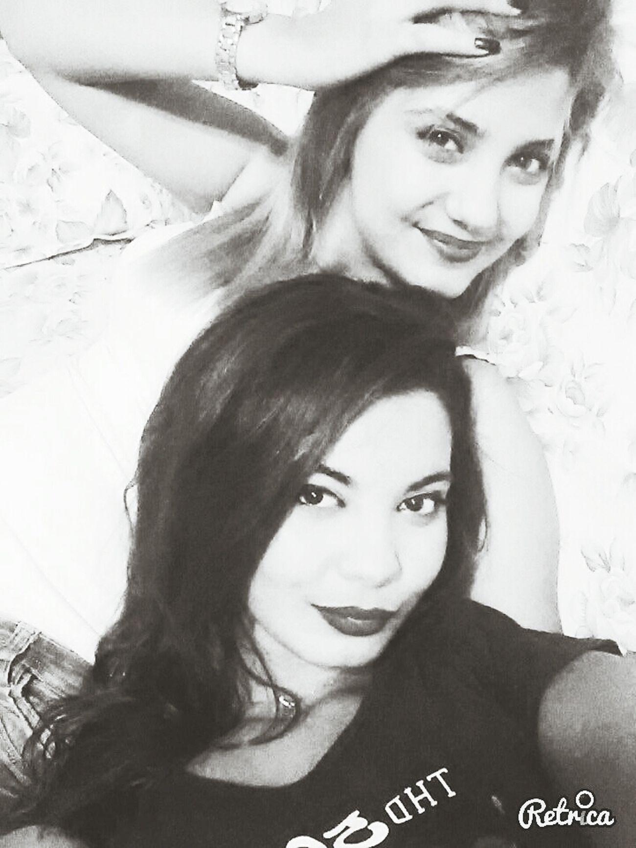 Me And Twin♥.... Black & White Smile ✌ Portrait